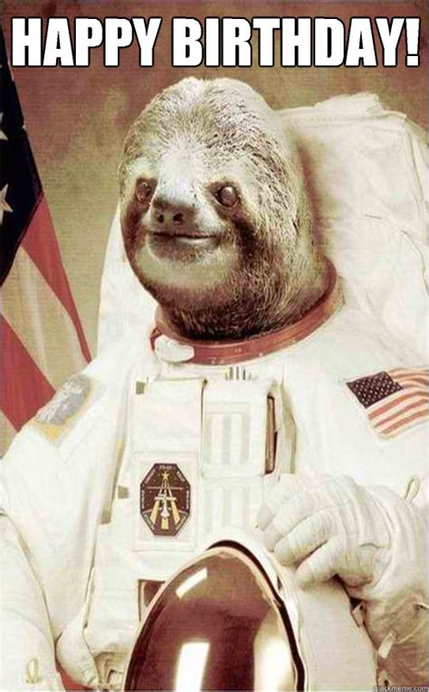 Astronaut Sloth Meme - nobody can hear me rape you in space astronaut rape sloth quickmeme