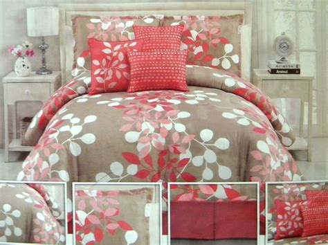coral and brown bedding coral and taupe bedding gorgeous bedroom update
