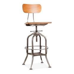 toledo style swivel bar stool rustic 64 74cm cult uk