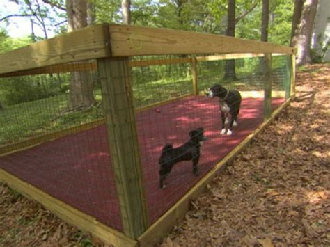 build a cabana dog pen id build a doggy cabana in one end and let them