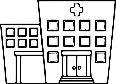 Any Images Hospital Coloring Page Wecoloringpage