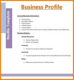 Cover Letter For Company Profile by Doc 12751650 Sle Company Profile For Small Business