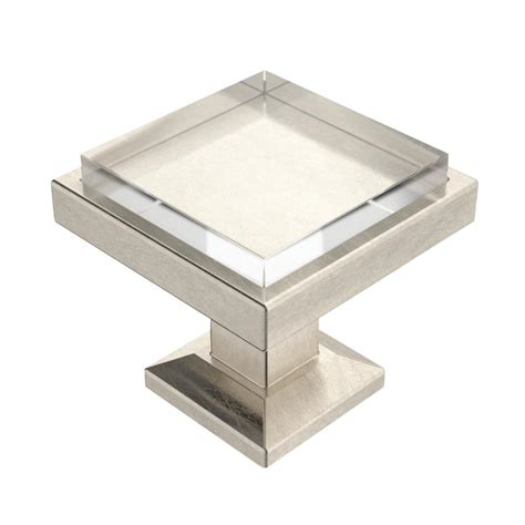 square cabinet knobs nickel liberty classic square 1 1 4 in 32 mm satin nickel and
