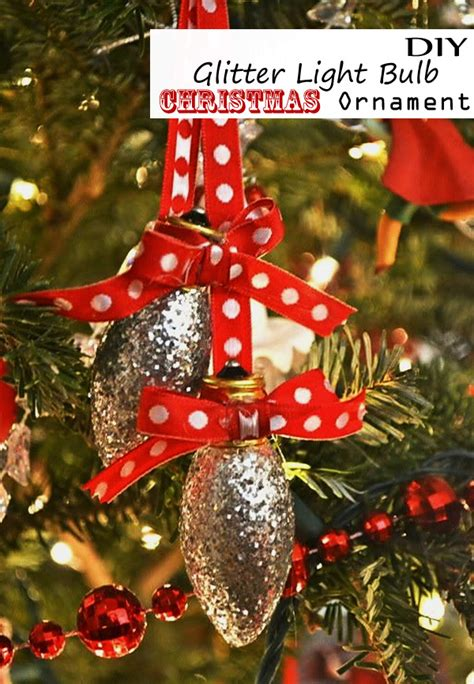 glitter light bulb christmas tree ornament cool easy kid