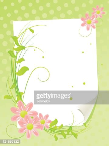 white paper sheet with summer flowers vector art | getty
