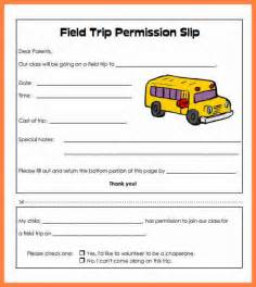 Field Trip Permission Letter by Sle Letter For School Field Trip Cover Letter Templates