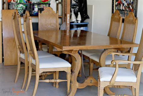 thomasville dining table and chairs updating a 1962 thomasville dining room table and chairs