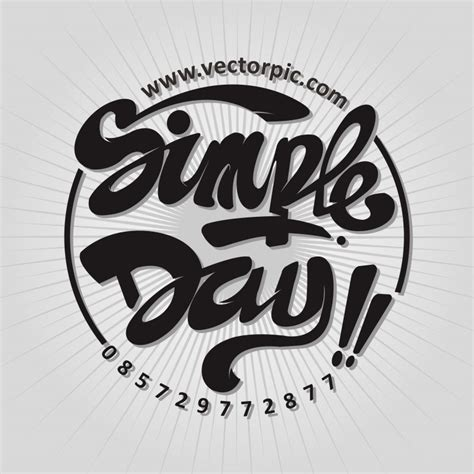 font untuk design t shirt simple day typography for tshirt design free vector