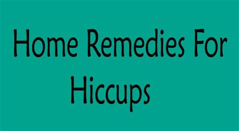 Home Remedies For Hiccups by 6 Effective Home Remedies For Hiccups Treatment Howflux