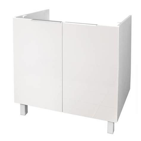 meuble sous evier 110 cm evier 80 cm blanc