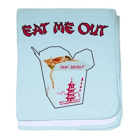 eats me out eat me out baby blanket by bizarretshirts