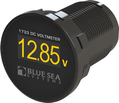 Mini Voltmeter Blue Sea 1733 Panel Mount Mini Dc Digital Voltmeter With