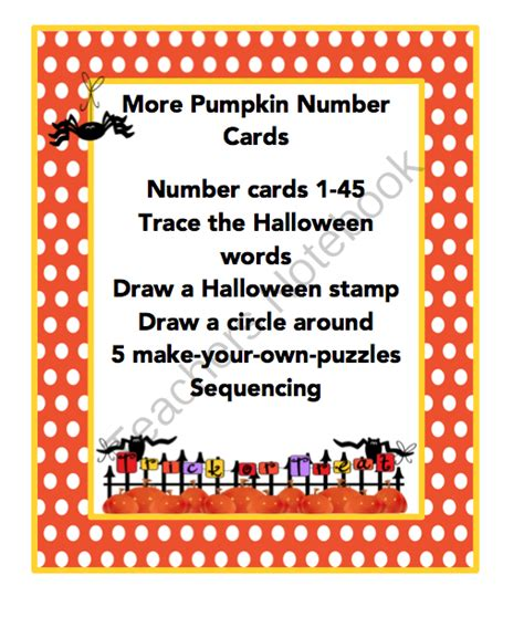 printable pumpkin number cards preschool printables september 2013