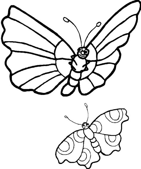 butterfly coloring page pdf two simple butterfly coloring images butterfly cartoon