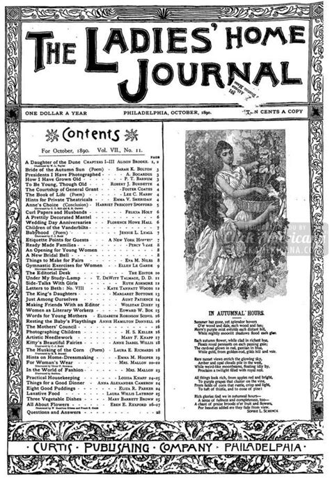 antique home journal magazine covers 1890