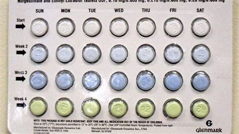 why are different colors why are birth pills different colors for each week