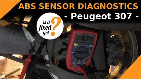 diagnose  abs sensor problem peugeot  youtube
