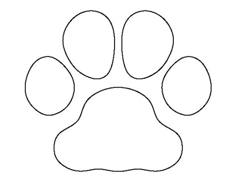 Dog Paw Template Printable Www Imgkid Com The Image Kid Has It Paw Print Templates