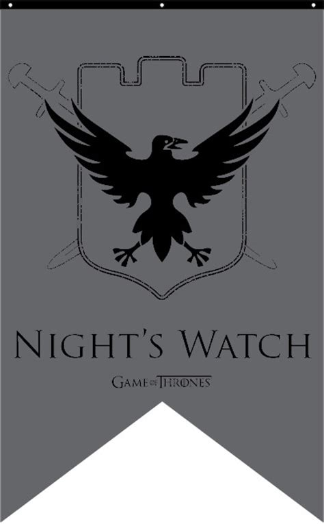Kaos Of Thrones Nightswatch Castle Black new of thrones banners fiction addiction books
