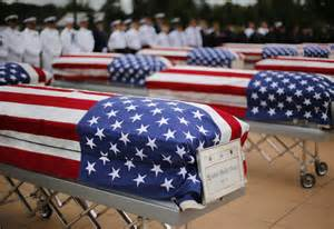 Flag Draped Casket 13 vets unclaimed remains finally laid to rest daily mail
