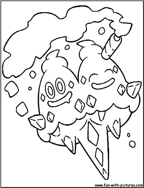 pokemon vanillite coloring pages vanilluxe coloring page