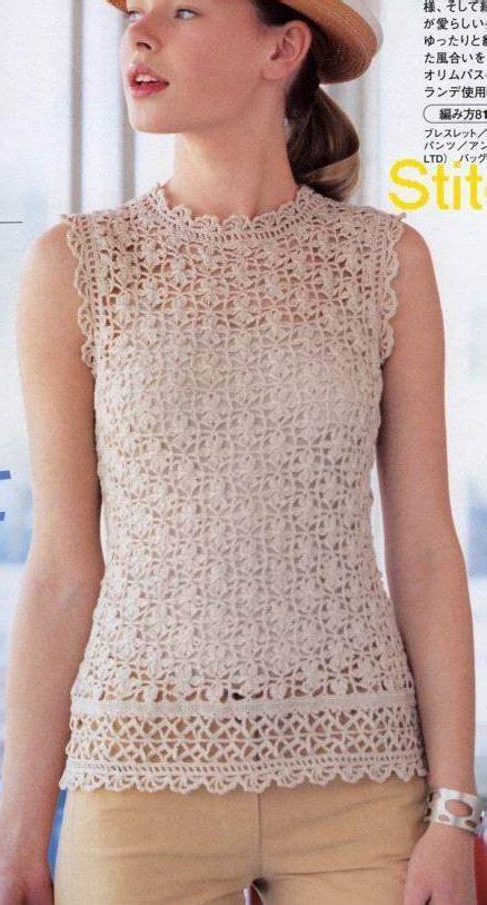 las 25 mejores ideas sobre blusas tejidas en pinterest blusas crochet blusas de crochet y