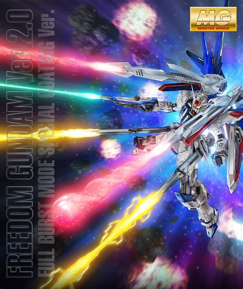 Mg Freedom Ver20 Busrt Mode Special Coating Ver p bandai mg 1 100 freedom gundam ver 2 0 burst mode special coating ver official