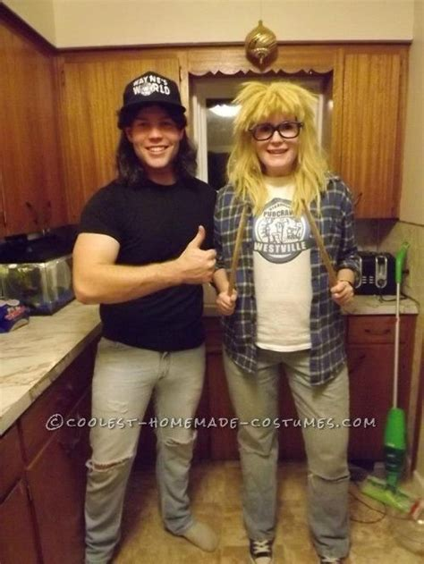 wayne  garth costume   couple homemade