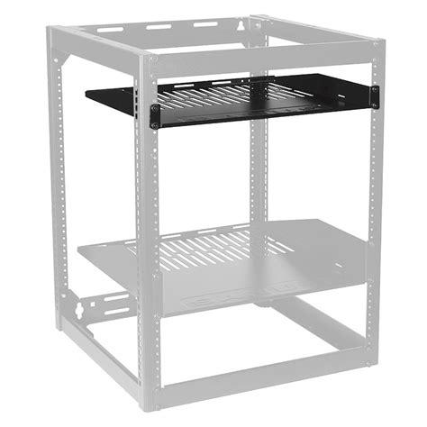 Rack Shelf 1u by Sanus 1u Vented Rack Utility Shelf Black Cash21