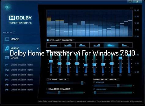 Home Theater Dolby install dolby home theater v4 in windows 7