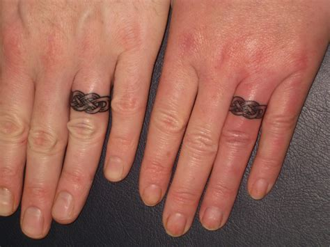 tattoo designs rings matching celtic wedding rings bands fingers