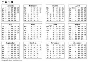 Calendar 2018 Printable With Week Numbers Weekly Number Calendar 2018 Weekly Calendar Template