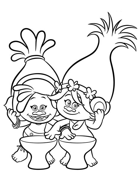 Trolls Coloring Pages To Download And Print For Free Coloring Pages Trolls