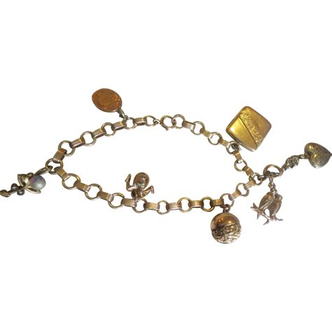 gold filled charms jewelry antique charm bracelet gold filled from 2271668