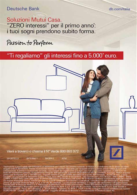 mutuo banca nuova deutsche bank lancia la nuova cagna mutui