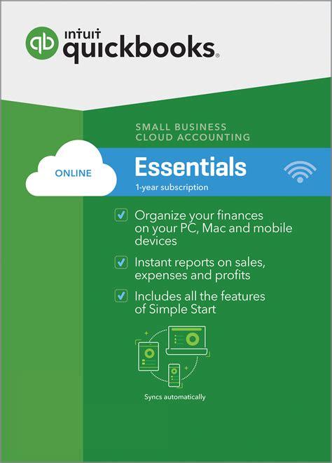 quickbooks  essentials accounting america