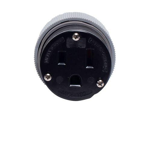 0332 Nema Top Black Grey eaton 50 250 volt 6 50 power connector gray and black 6709n the home depot