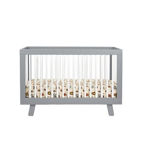 Hudson 3 In 1 Convertible Crib Babyletto Hudson 3 In 1 Convertible Crib With Toddler Bed Conversion Kit In Grey White