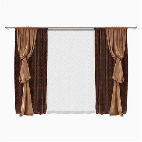 bishop sleeve curtains 3d curtain bishop sleeve drapery model