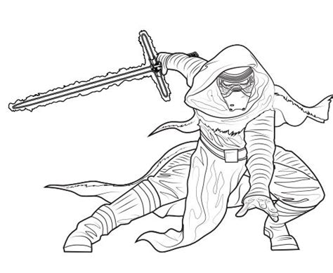 coloring pages kylo ren 37 coloring page kylo ren star wars la guerra de