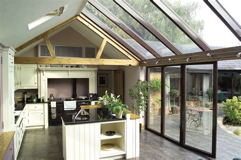 gabled conservatory extension kitchen extensions housetohome co uk glass kitchen extensions apropos conservatories