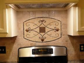 Decorative Kitchen Backsplash Kitchen Backsplash Metal Medallions Home Design Ideas