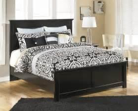 Cheap Black King Size Bed Maribel Black Panel Bed B138 54 B136 57