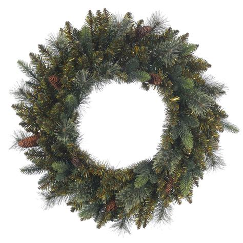 vickerman 371411 24 quot reno mixed pine christmas wreath