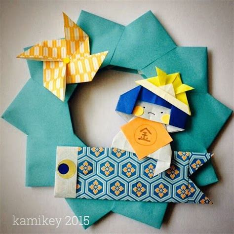 origami tutorial on pinterest 子どもの日の飾り折り紙金太郎とこいのぼり origami pinterest origami
