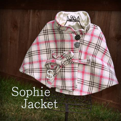 etsy jacket pattern the sophie poncho jacket childrens sewing by mylittleplumcake