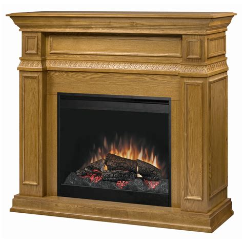 shop dimplex 49 in w oak wood electric fireplace with