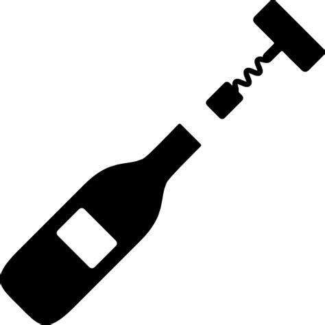 wine bottle svg corkscrews and bottle of wine free food icons