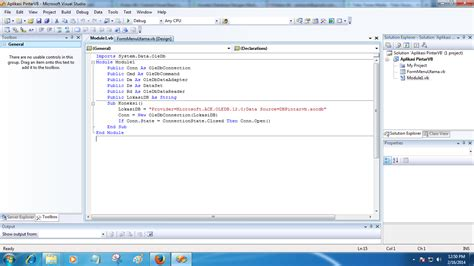 tutorial visual basic 2008 test koneksi database vb 2008 pintar vb tutorial