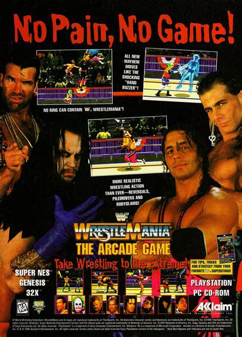 wwf wrestlemania arcade  game gamefabrique